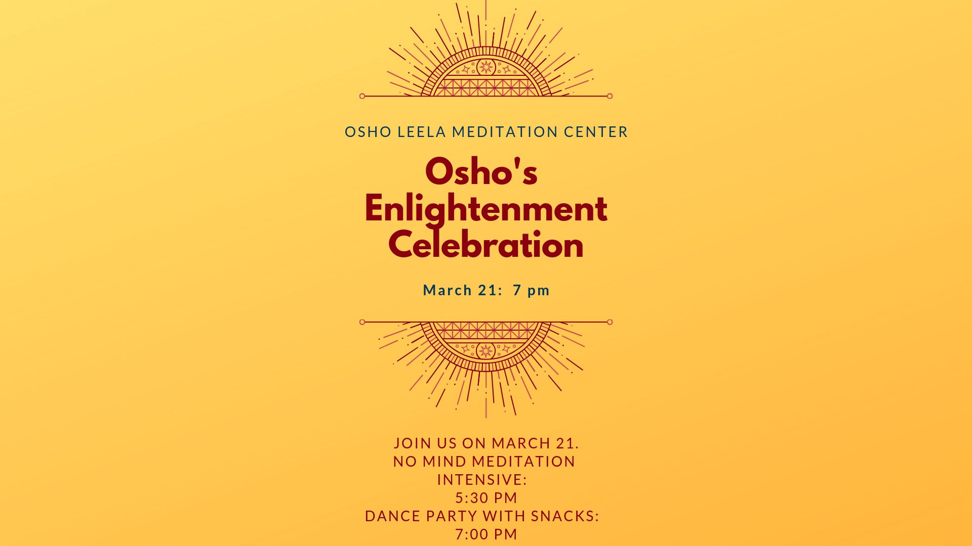 Enlightenment Day Celebration