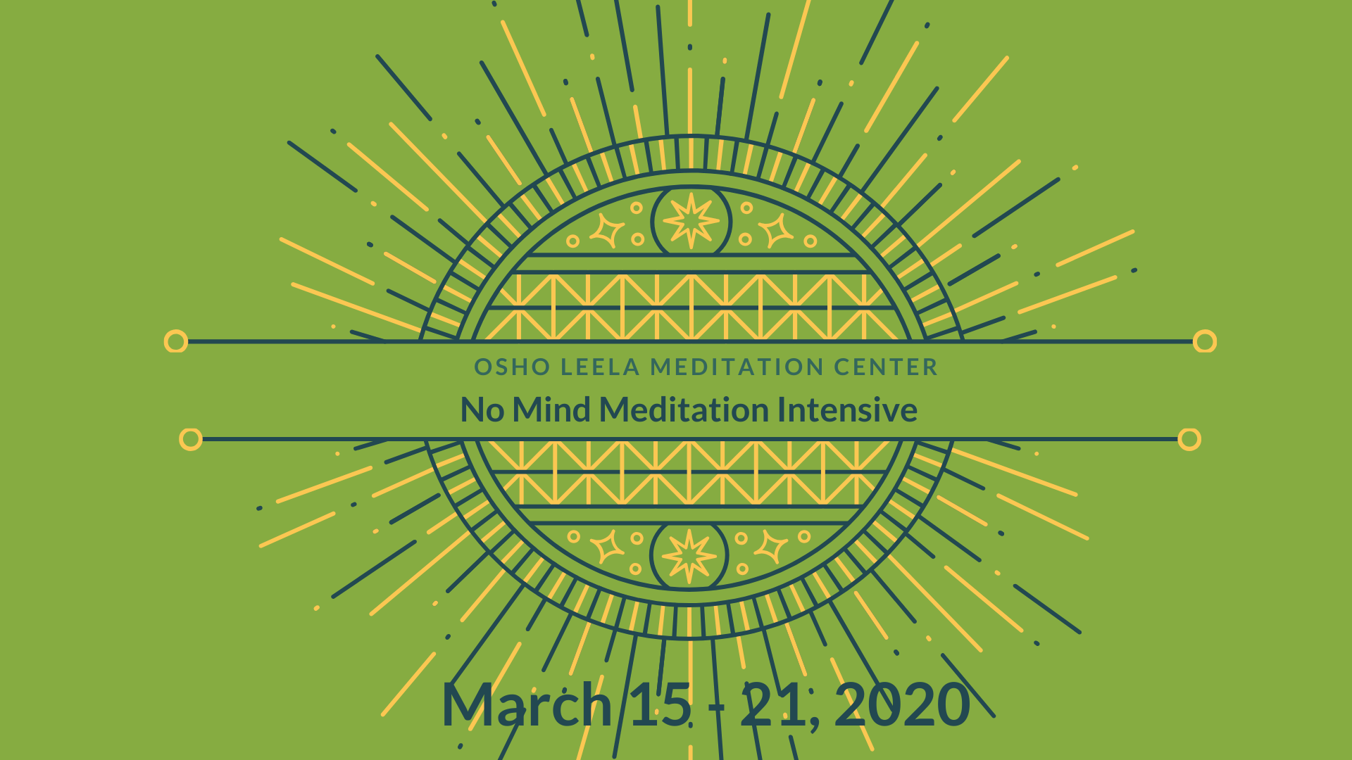 No Mind Meditation Intensive and Enlightenment Day Celebration
